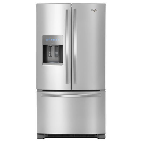 Whirlpool 36-inch Wide Stainless Steel French Door Refrigerator – 25 cu. ft. | Four Brothers Appliances
