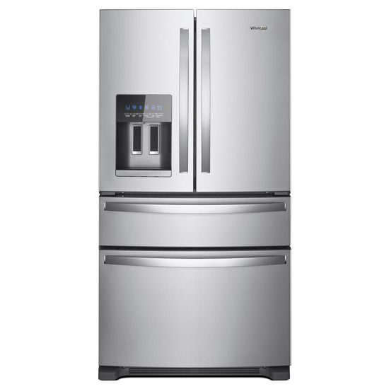 Whirlpool 36-Inch Wide Stainless Steel French 4-Door Refrigerator – 25 cu. ft. | Four Brothers Appliances