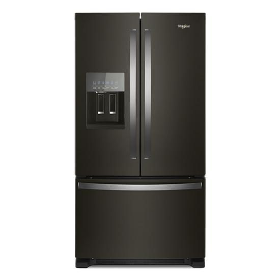 Whirlpool 36-inch Wide French Door Refrigerator in Black Stainless Steel – 25 cu. ft. | Four Brothers Appliances